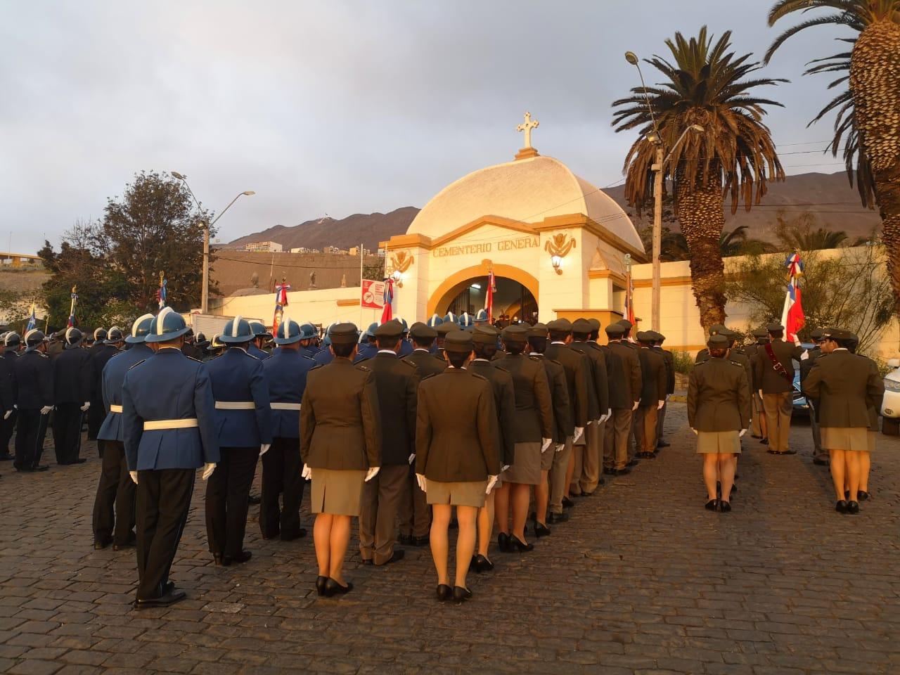 Bomberos de Antofagasta celebraron 144 años de vida institucional con tradicional romería