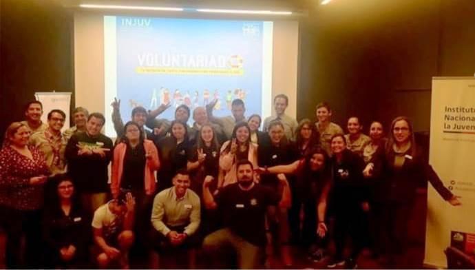 Bomberos Antofagasta participó en catastro de voluntariado INJUV
